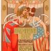 """Nicola Mataloni, """"Anglo American Bar G.B"""". Faraglia, litografia, 205 x 112 cm, 1903, Courtesy Galleria L'Image, Alassio"""