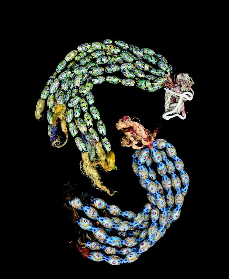 Perle di vetro a lume, XIX secolo