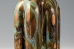 Bottiglia in vetro calcedonio con macchie di avventurina, fine XVII sec.