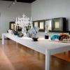 Allestimento della mostra FAREVETRO - Murano, Museo del Vetro - Sala del XVIII sec., primo piano