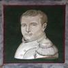Piastra con ritratto monocromo in micromosaico di Napoleone