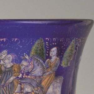 Paerticolare Coppa barovier museo del vetro di murano